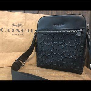 NWT Authentic Coach Signature Crossgrain Bag